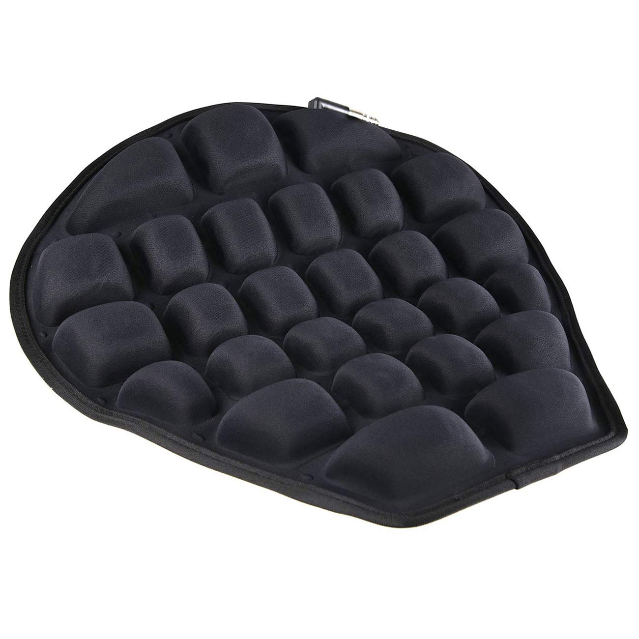 HOMMIESAFE Air Motorcycle Seat Cushion Water Fillable Cooling Down Seat Pad,Pressure Relief Ride Motorcycle Air Cushion Large for Cruiser Touring Saddles