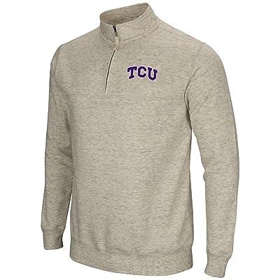 Mens TCU Horned Frogs Quarter Zip Sweatshirt