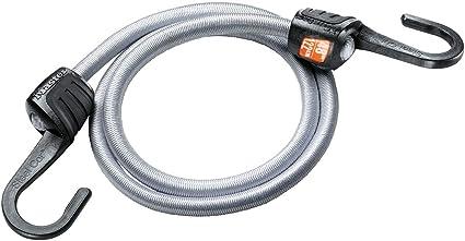 Gancho EZ Grip 80 cm Cuerda Master Lock 3031EURDAT Cuerdas el/ásticas con Ganchos Reforzadom Mudanzas Optimo para Sujetar Cargas Peque/ñas Camping Gris