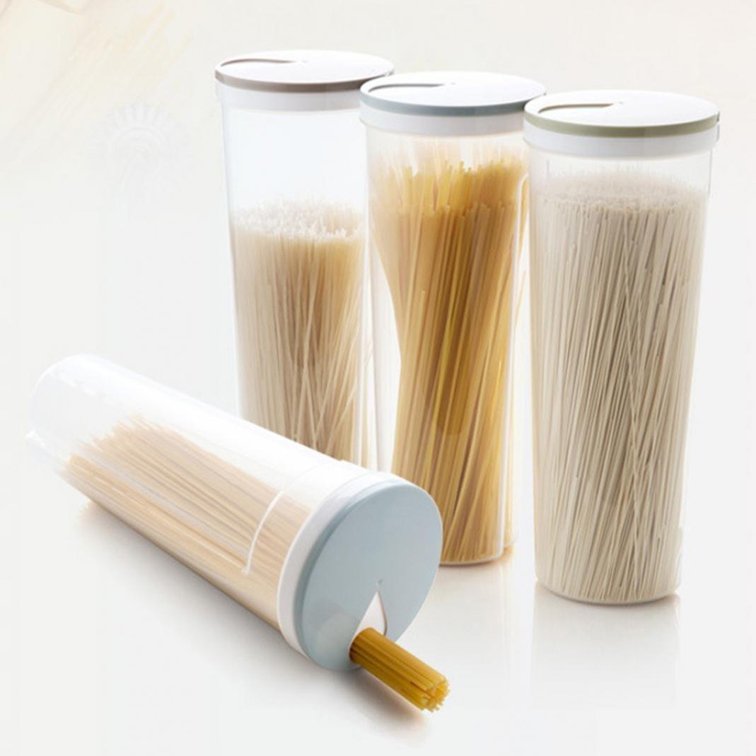Contenitore sigillato, contenitore ermetico grande, per riporre cibo secco, ideale per conservare cereali, riso, pasta, legumi e cibo per animali, con coperchio, plastica, Light Green, medium Brussels08