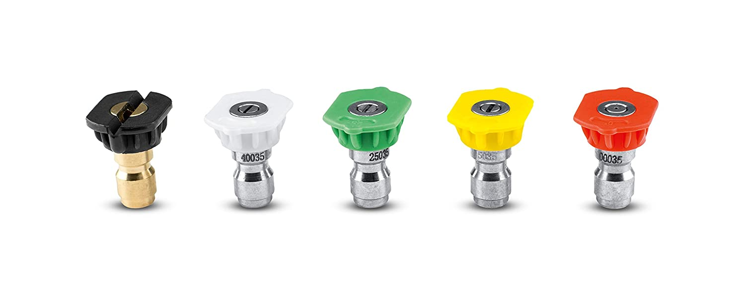 Karcher 5-Piece Quick-Connect Spray Nozzles for Gas Power Pressure Washers, 4000 PSI Rating