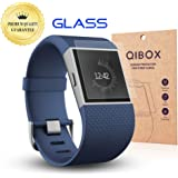 QIBOX Premium HD Clear Tempered Glass Screen Protector for for Fitbit Surge Fitness Superwatch-9H Hardness Multi-layerExplosion-proof and Anti-Bubble Screen Guard