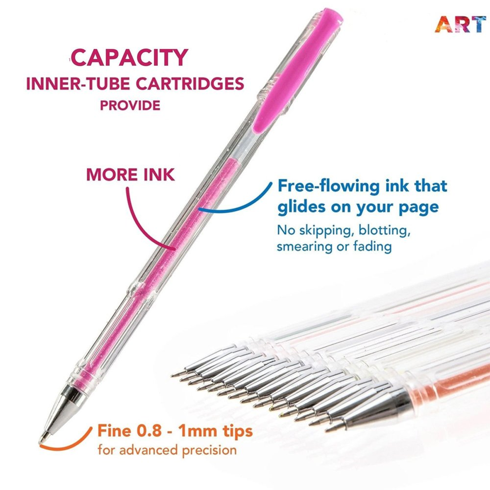 Gel Pens Set (60 gel pens plus 60 refills)