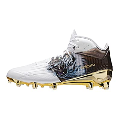 best service 2aeed 4b5ec adidas Adizero 5Star 5.0 Uncaged Mid Mens Football Cleat 18 Tiger-White-Gold