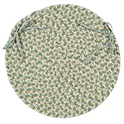 Colonial Mills FM69 Portico Pattern-Made Chair Pad, 15 by 15-Inch, Green Multi, 4-Pack