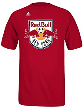 Adidas New York Red Bulls MLS Primary Logo Camiseta de - Red, Large: Amazon.es: Deportes y aire libre