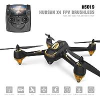 Hubsan H501S X4 Brushless Drone GPS 1080P HD Caméra 5.8Ghz FPV 2.4Ghz RC Quadcopter avec H901A Emetteur Noir Standard Version