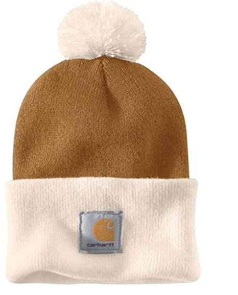 32feba88c2a Carhartt Lookout Hat - Brown with Pom Pom Mens Winter Hat CH103343211-One  Size  Amazon.co.uk  Clothing