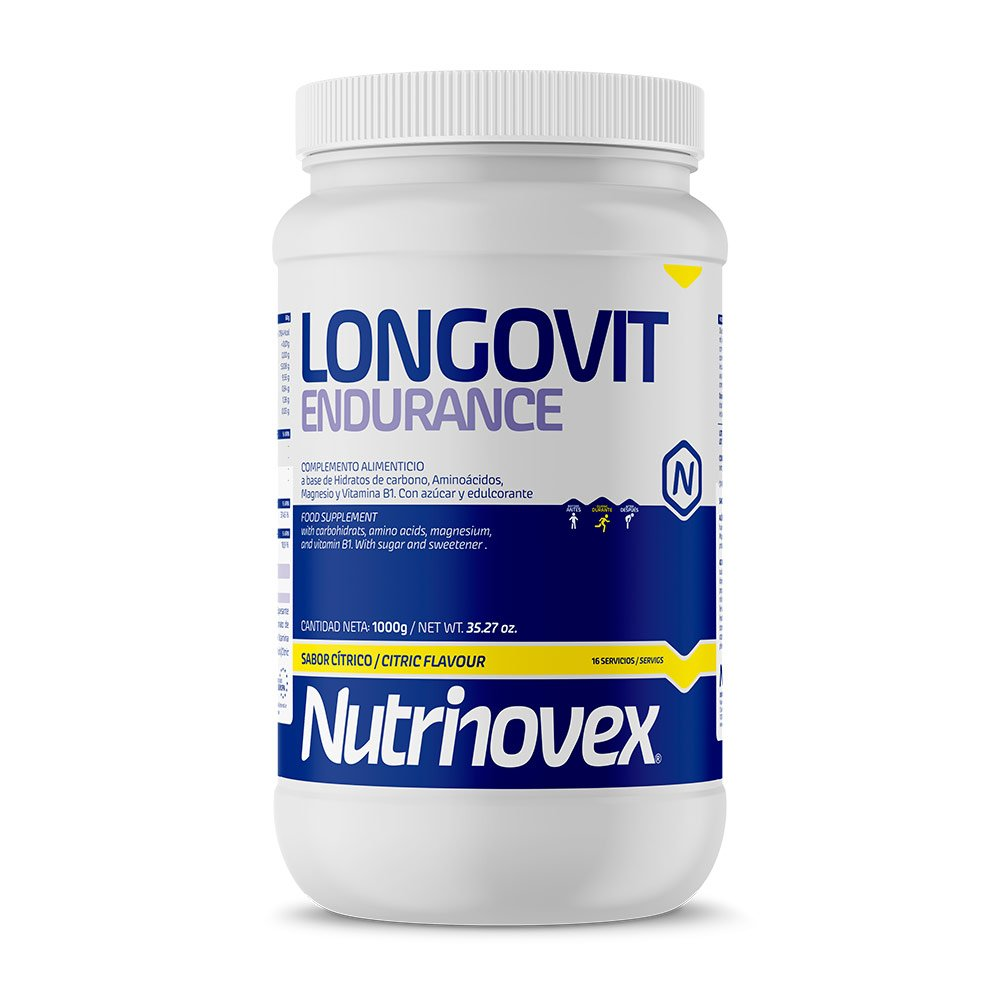 Nutrinovex Longovit Endurance Bebida Energética, Aroma Cítrico - 1000 gr: Amazon.es: Salud y cuidado personal