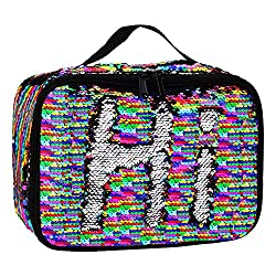 Reversible Sequin Insulated Mermaid Lunch Box