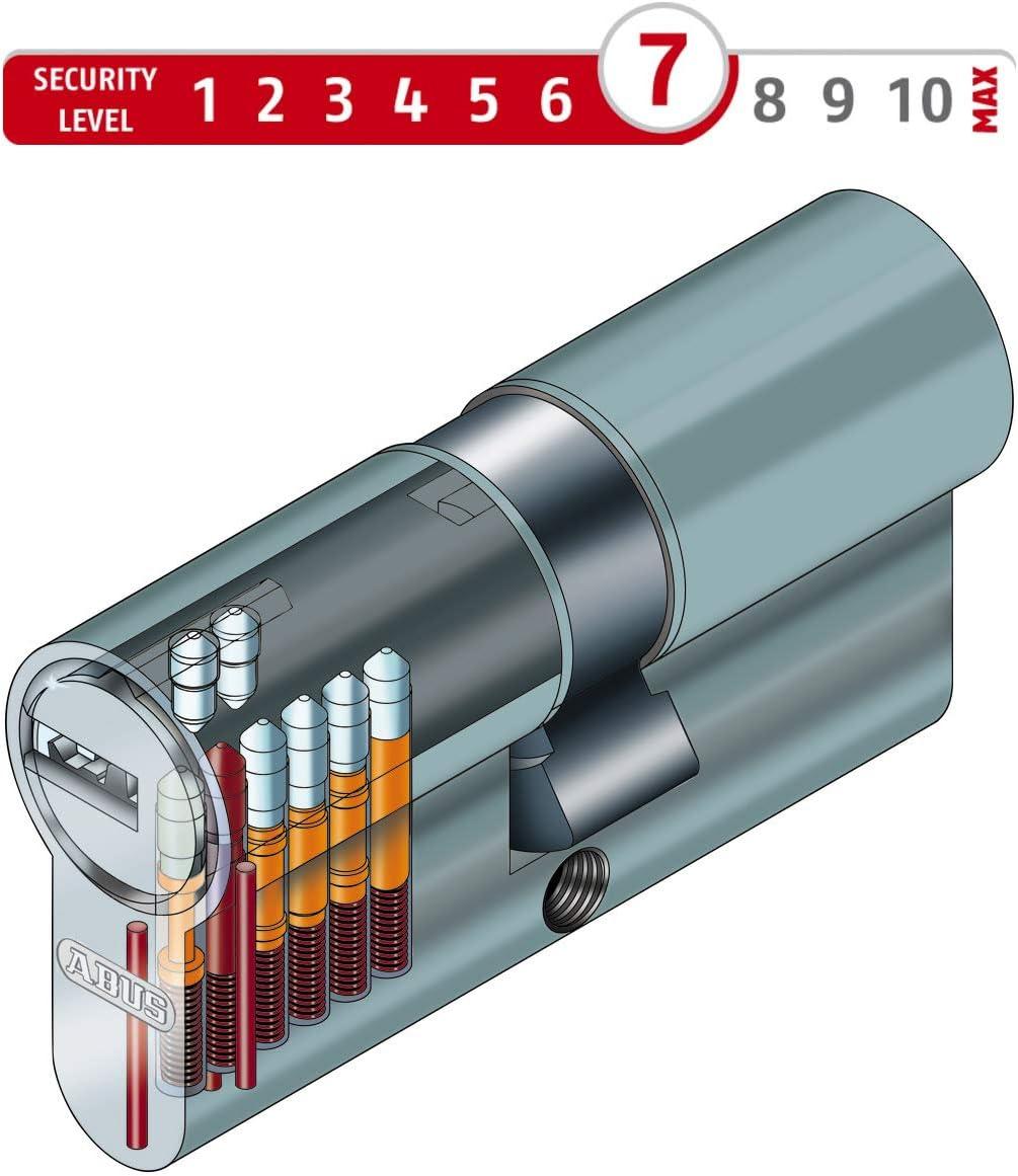 ABUS EC550 Profil-Knaufzylinder L/änge Z35//K30mm mit 3 Schl/üssel