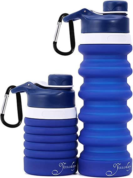 Botella de Agua Plegable Suave Silicona de Grado Alimenticio Botella de Agua Deportiva para Viajar Alpinismo Ciclismo,para Ciclismo Camping STLOVe Botella Plegable Deporte Exterior