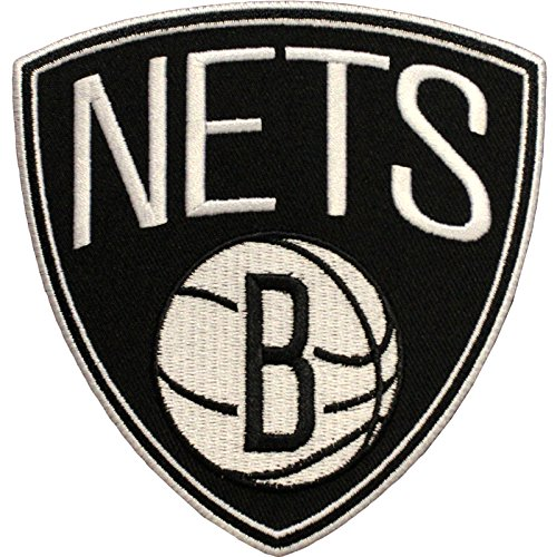 Official Brooklyn Nets Logo Large Sticker Iron On NBA Basketball Patch Emblem by Patch Collection