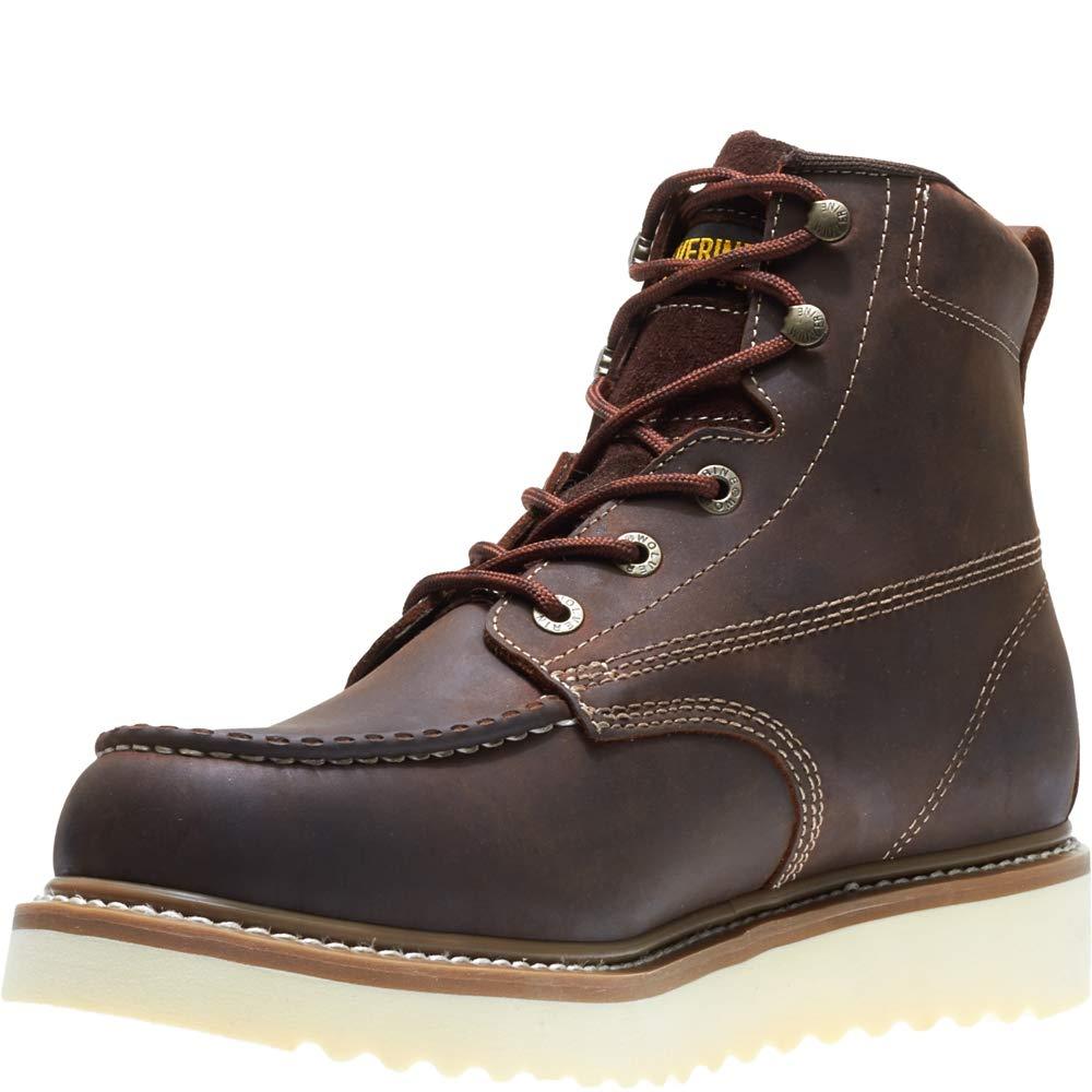 WOLVERINE Mens Loader 6 Soft Toe Wedge Work Boot