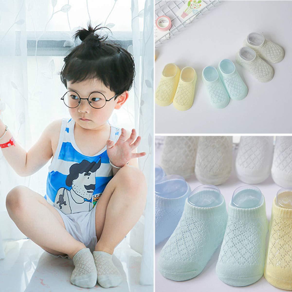 Pack of 5 Mesh Thin Baby Girls Boys Cotton Socks Toddler Infant Kids No Show Ankle Socks Multipack