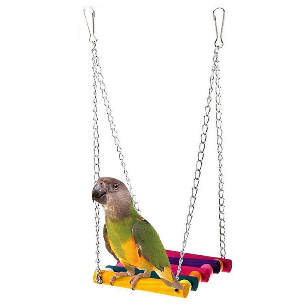 PIVBY Bird Rope Step Ladder Toy Bridge Cage Hammock Swing Toys for Parrot Parakeet Budgie Cockatiel Pack of 2