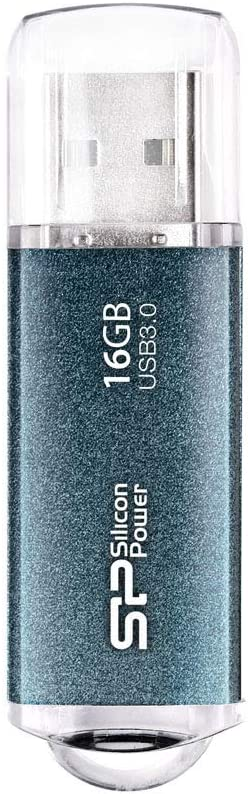 Silicon Power Marvel M01 USB 3.0 16 GB Flash Drive SP016GBUF3M01V1B ICY Blue
