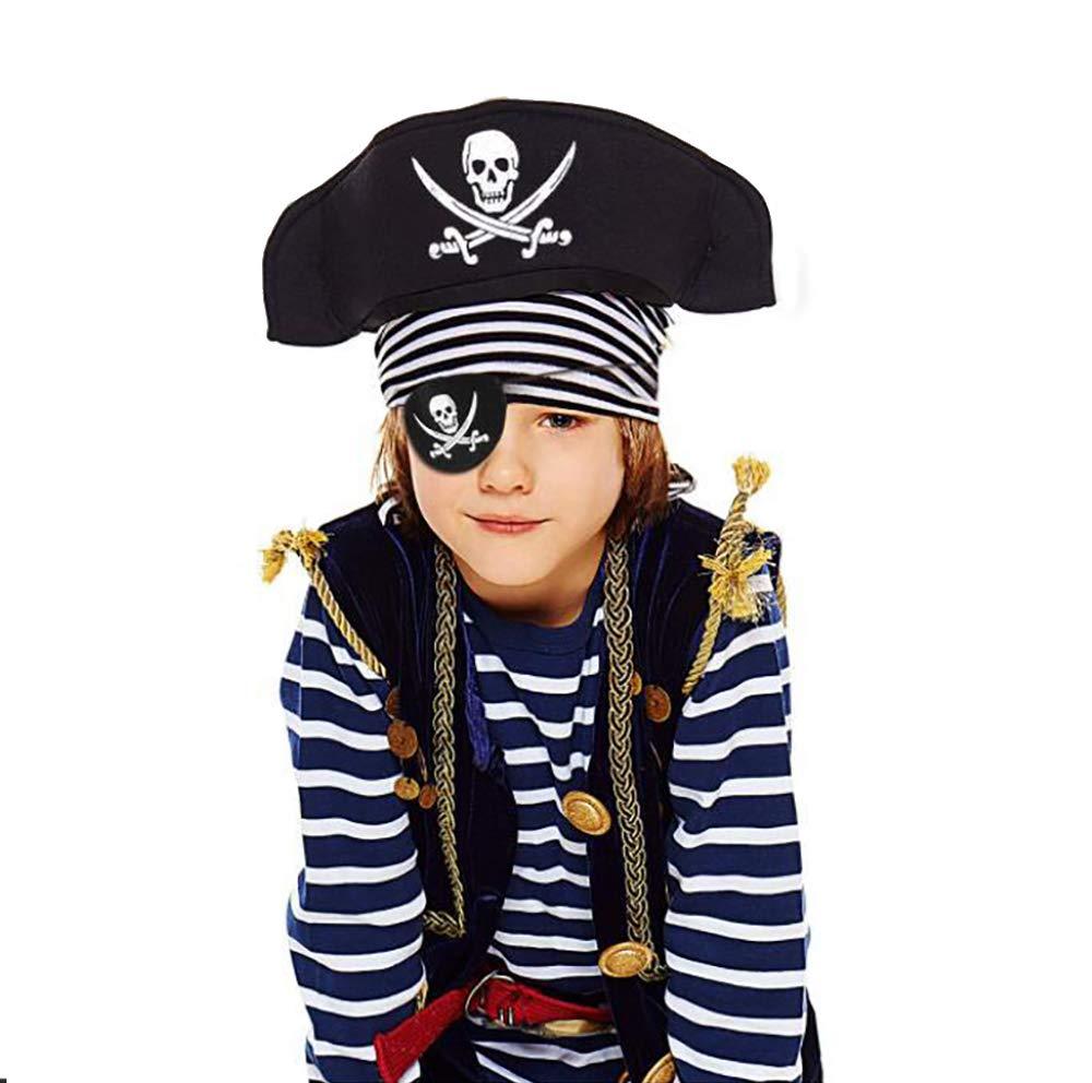 kungfu Mall 15pcs Feltro Nero Patch Pirata Occhio Un Occhio Cranio Capitano Maschera per Gli Occhi per la Festa di Halloween Pirata di Natale a Tema Festa e Bambini bomboniere