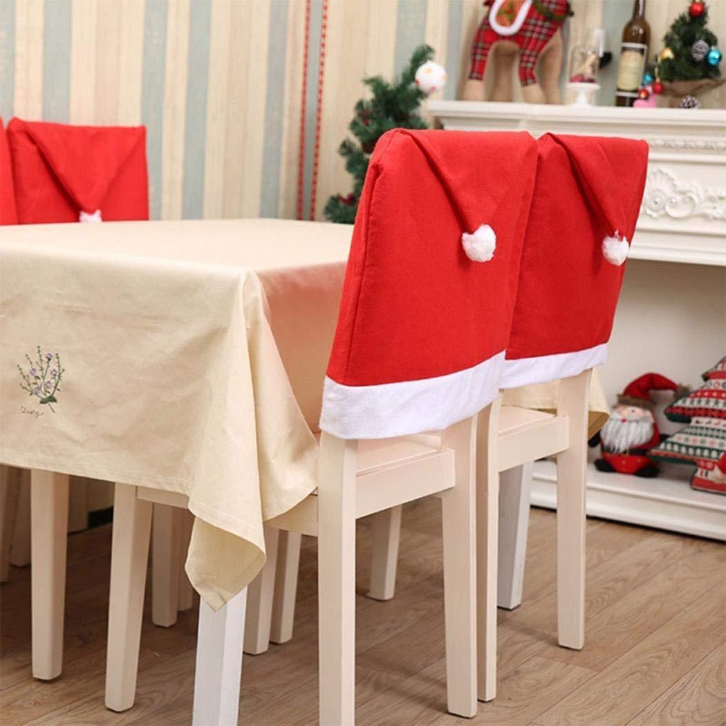 Amazon Com Elever Christmas Chair Back Covers Cartoon