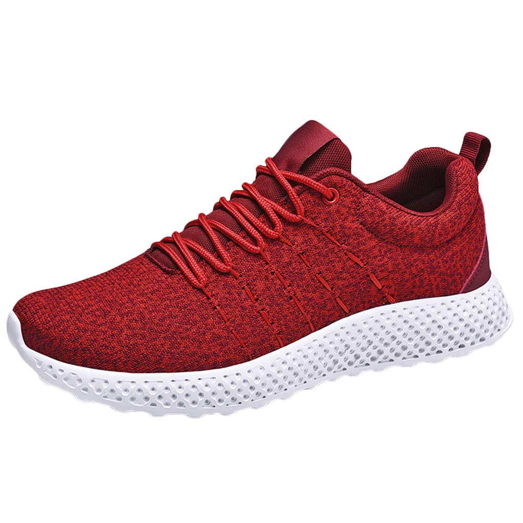 lotteQW Men's Large Size Fly Knit Breathable Ultra Light Jogging Shoes Autumn Sneakers 2019 New Shoes by lotteQW
