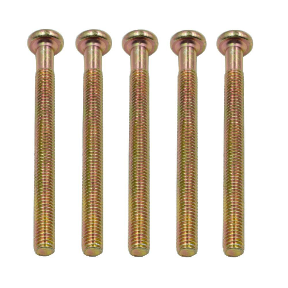 5 Pcs HONJIE M6x70mm Male Thread Hex Socket Head Cap Screws Bolts Bronze Tone