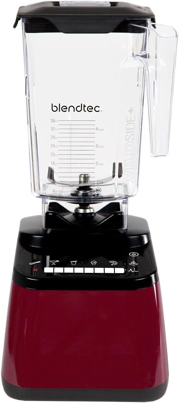 Blendtec Designer 650 Red Blender with Wildside+ Jar