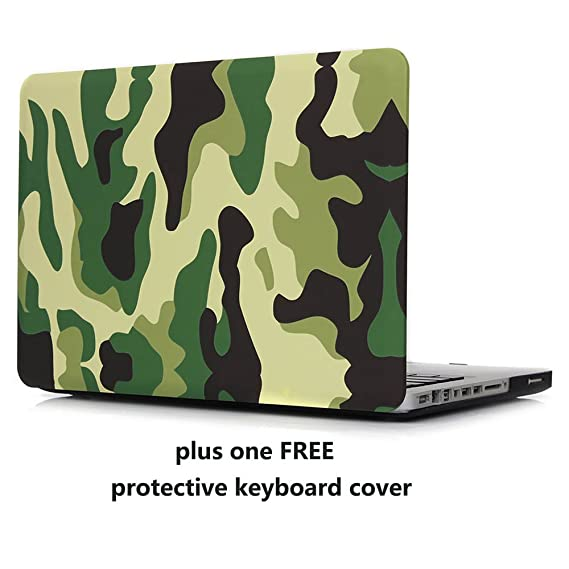info for 545d9 aaaf1 MacBook Pro 13 Case Cover – Treasure21 Premium Nonslip Soft-touch, Snap on,  Smart protection Case Shell for Apple MacBook Pro 13(Camo)