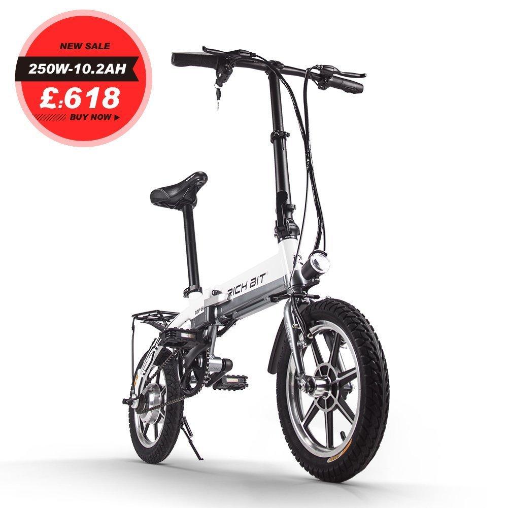 ミニ電動アシスト自転車 14インチ 折り畳むフレーム おしゃれ 電動アシスト自転車 B079BFPKBT ホワイト ホワイト