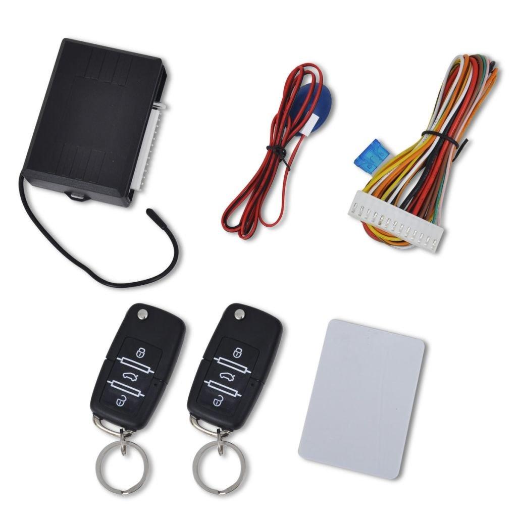 vidaXL Kit Verrouillage Centralisé avec 2 Télécommandes pour Voiture Alarme