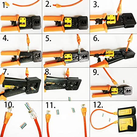Youanshanghang LIN Network Cable Multi-Function Manual Professional Through-Hole Cable Clamp Electrician Tools