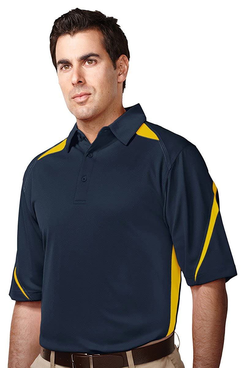 Mens UltraCool/® 3-Button Birdseye Mesh Lightning Sports Polo 12 Colors, S-6XLT