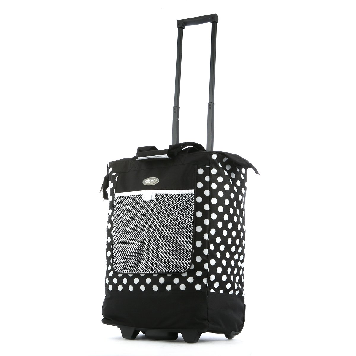 Olympia Luggage Rolling Printed Shopper Tote, Black, One Size by Olympia