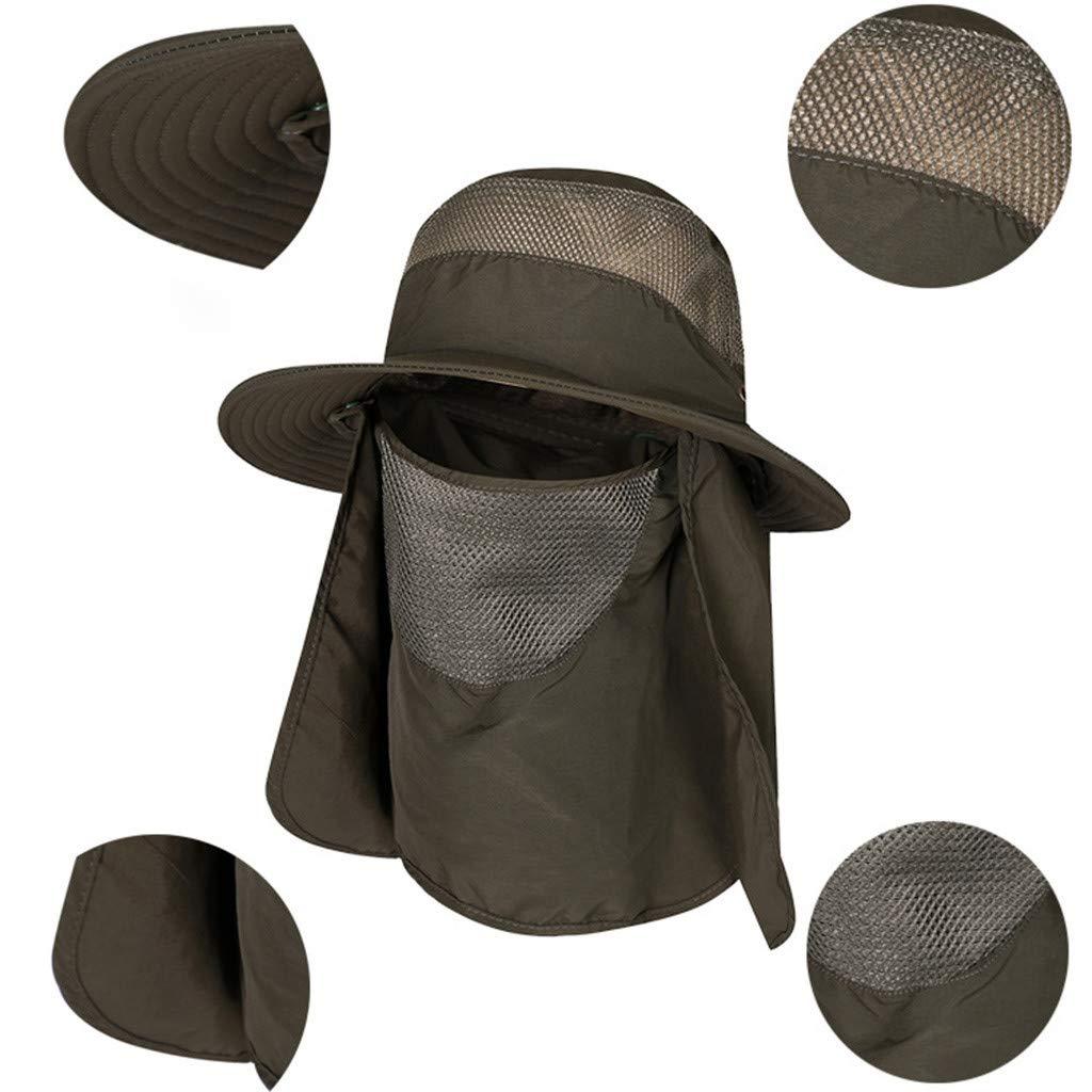 Palaver Visor Fashion Men Outdoor Sun Protection Fishing Cap Neck Face Flap Hat Wide Brim