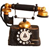 アンティーク 雑貨 電話機 欧米風 黒 レトロ 装飾 置物