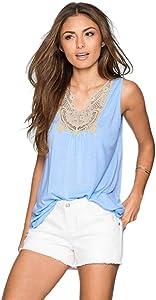 Franterd Summer Women Lace Vest Top Sleeveless Casual T-Shirt Tops