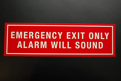 Amazon.com: Emergency Exit Only Security Alarm Will Sound ...