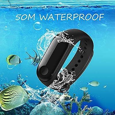 Xiaomi Fitness Tracker, Mi Band 3 Heart Rate Monitor Activity Tracker Watch 50M Waterproof Smart Bracelet 0.78 OLED Display Weather Forecast Wristband Pedometer Calories Burned Sleep Monitor Black