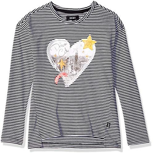 DKNY Girls Long Sleeve High Low Hem T-Shirt