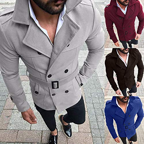 SMALLE ◕‿◕ Clearance,Outwear for Men, Autumn Winter Slim Fit Long Sleeve SuitTop Jacket Trench Coat Outwear by SMALLE (Image #5)