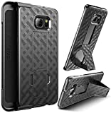 Galaxy S6 Edge PLUS case, E LV (HOLSTER) Case Cover - SHOCK PROOF / IMPACT RESISTANT Shell Holster with Belt Clip and Kickback Stand - case cover for Samsung Galaxy S6 Edge PLUS ...