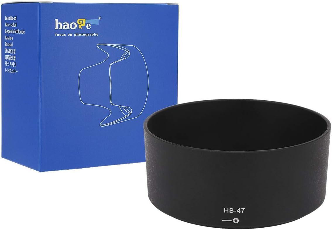 Haoge Bayonet Lens Hood for Nikon Nikkor AF-S 50mm f1.4G and Nikon Nikkor AF-S 50mm f1.8G Lens Replaces Nikon HB-47