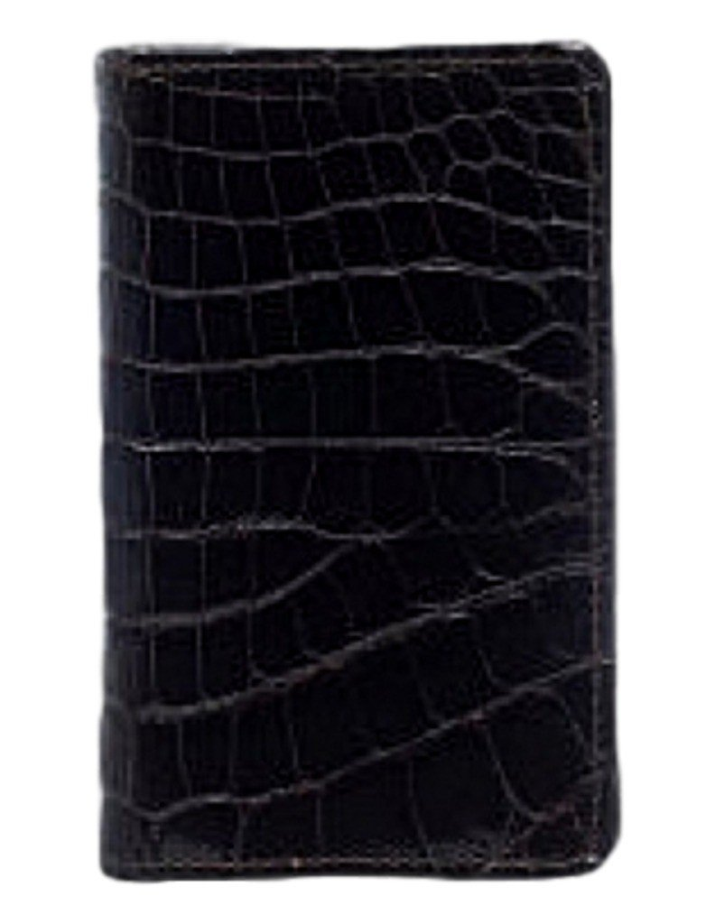 Ferrini Business Card Holder Alligator Slots 4 1/2 x 2 3/4 Black ABCC