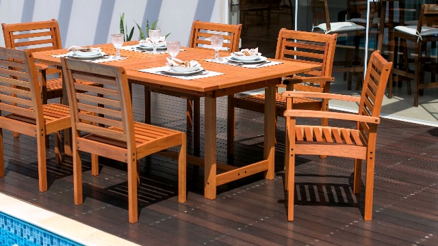 Amazonia Bahamas 7-Piece Oval Patio Dining Set | Eucalyptus Wood | Ideal for Outdoors and Indoors, Black - 1 Oval extendable Table 63-83wx36dx29h 6 armchairs 22wx23dx37h High Quality FSC Eucalyptus Wood (Eucalyptus Grandis) Wood color: Brown. Chair Sling: Black - patio-furniture, dining-sets-patio-funiture, patio - 61BKRbwX%2BzL -