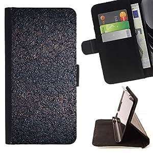 For Samsung Galaxy E5 E500 Case , Cork Interesante Gris Ceniza- la tarjeta de Crédito Slots PU Funda de cuero Monedero caso cubierta de piel