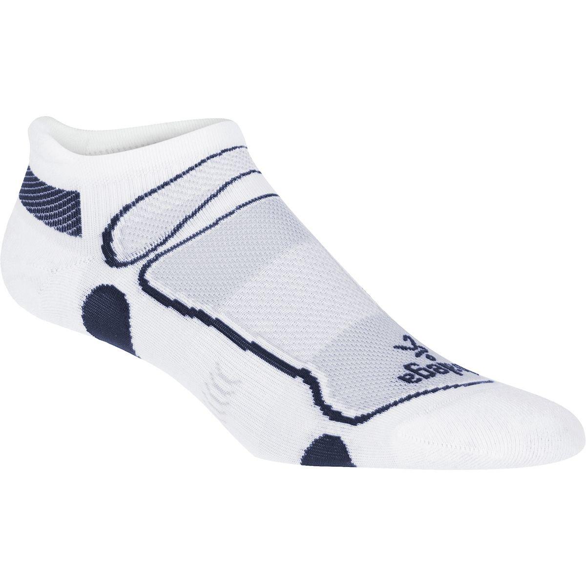 Balega Ultra Light No Show Running Socks (medium, White/Navy)