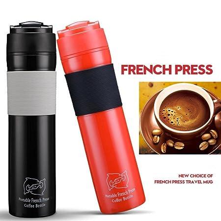 IGEMY - Taza de viaje portátil para cafetera francesa negro ...