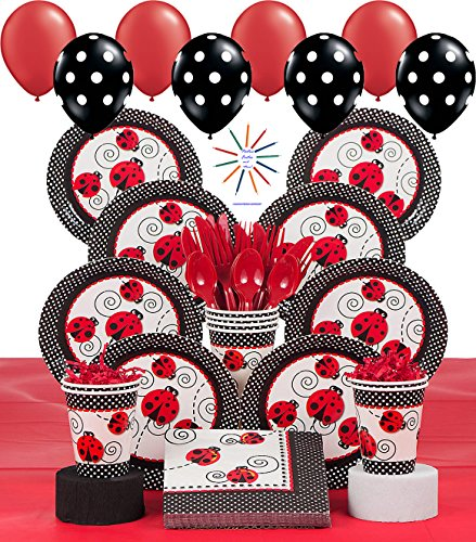 Ladybug Deluxe Party Pack For 8 Guests