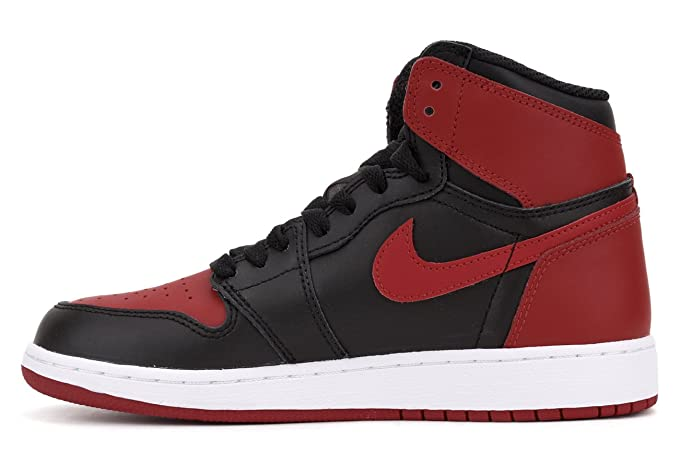 huge discount 17fc0 4973e Amazon.com  Air Jordan 1 Retro OG  Banned  575441 001 (Black Varsity  Red-White) (6Y)  Jordan  Sports   Outdoors