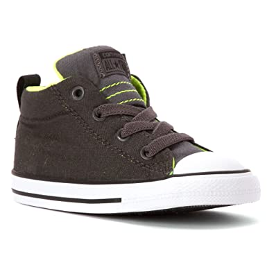 8b6b006b583f Amazon.com  Converse Kids  Chuck Taylor All Star Street Mid  (Infant Toddler)  Converse  Shoes