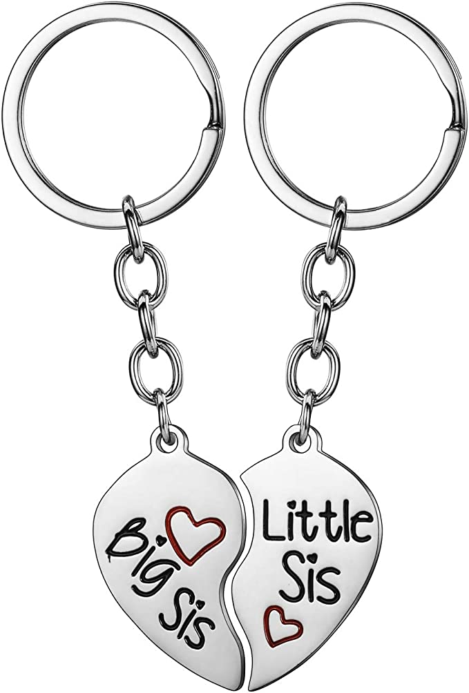 New Big Sister Gift Big Sister Gift Big Sister Keepsake Big Sister Key Ring Keychain  Zipper Pull IB New Baby Announcement
